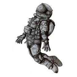 Астронавт водонепроницаемые Временные татуировки для мужчин Maquagem Harajuku Cosmonaut хна тату красота рукав тату стикер тело feminino