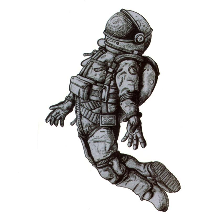 Астронавт Водонепроницаемый Временные татуировки Для мужчин maquagem Harajuku космонавт Henna татуировки Красота рукавом татуировки наклейки Body feminino