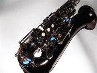 C Melody Sax черный никель саксофон с Case Woodwind музыкальных инструментов профессионалов
