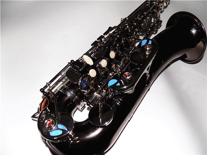 C Melody Sax Black nickel Saxophone With Case Woodwind Musical Instruments professionals