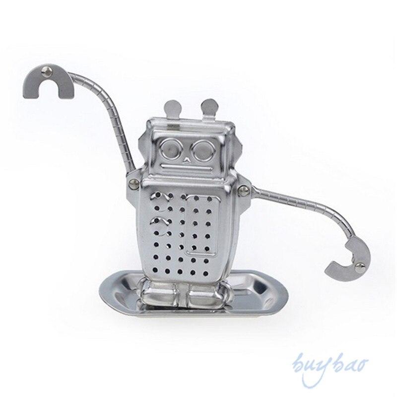 2015 Robot Hanging Tea Leaf Diffuser Infuser Steel Strainer Herbal Spice Filter #68