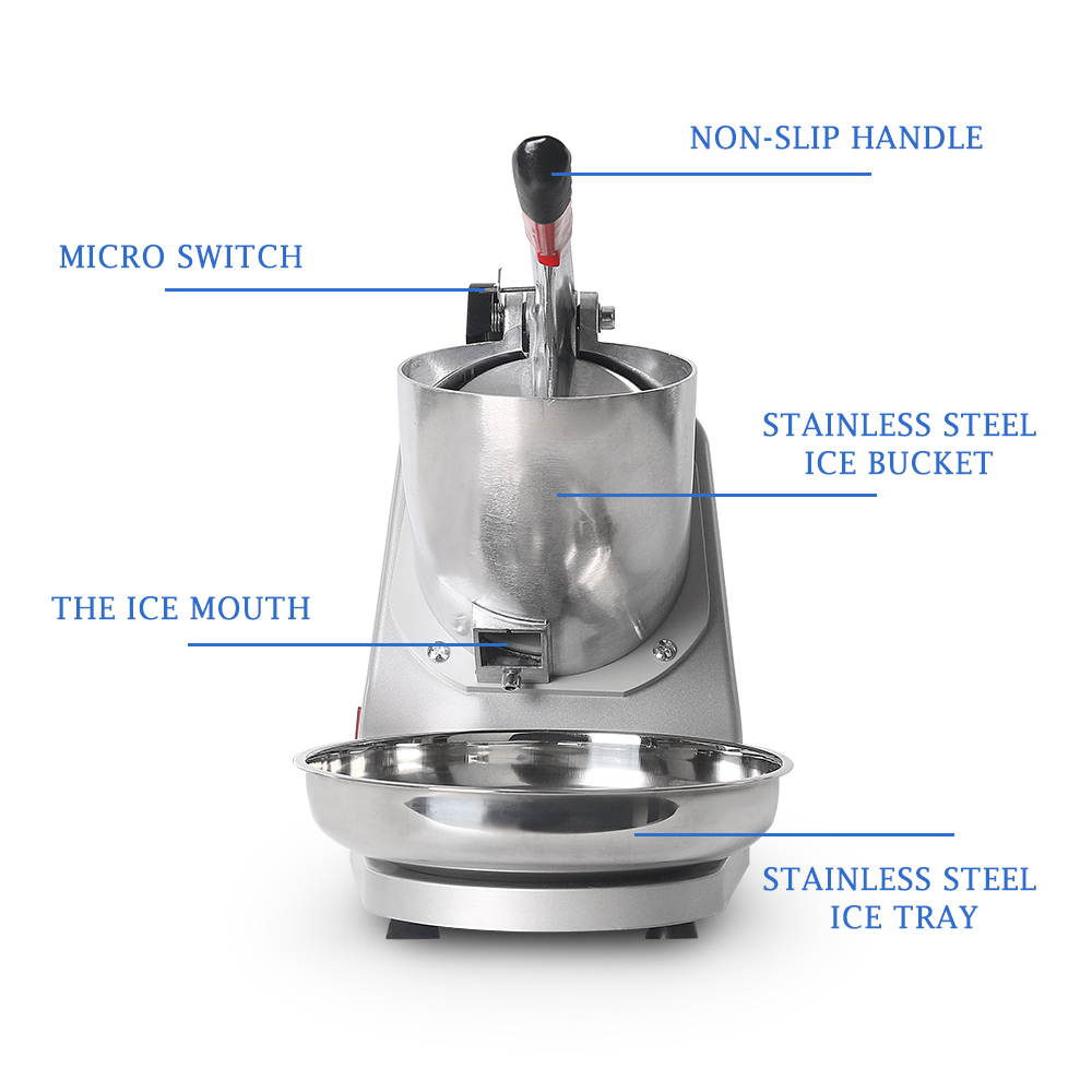 Electric Ice Crusher Ice Shaver Commercial DIY Ice Cream Maker for Coffee Shop Hotel