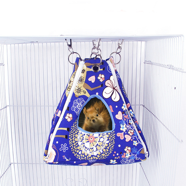 Small Pet Hammock Tent-stype Summer Cool Nest Pet Hanging Bed House for Ferret Rabbit Rat Hamster Squirrel Parrot Toys 1