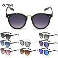 OUTEYE Caliente Gradiente Gafas de Sol Ronda Plane gafas de Sol Para Mujer Para Hombre de La Moda Retro gafas de Sol de Diseño Gafas W1