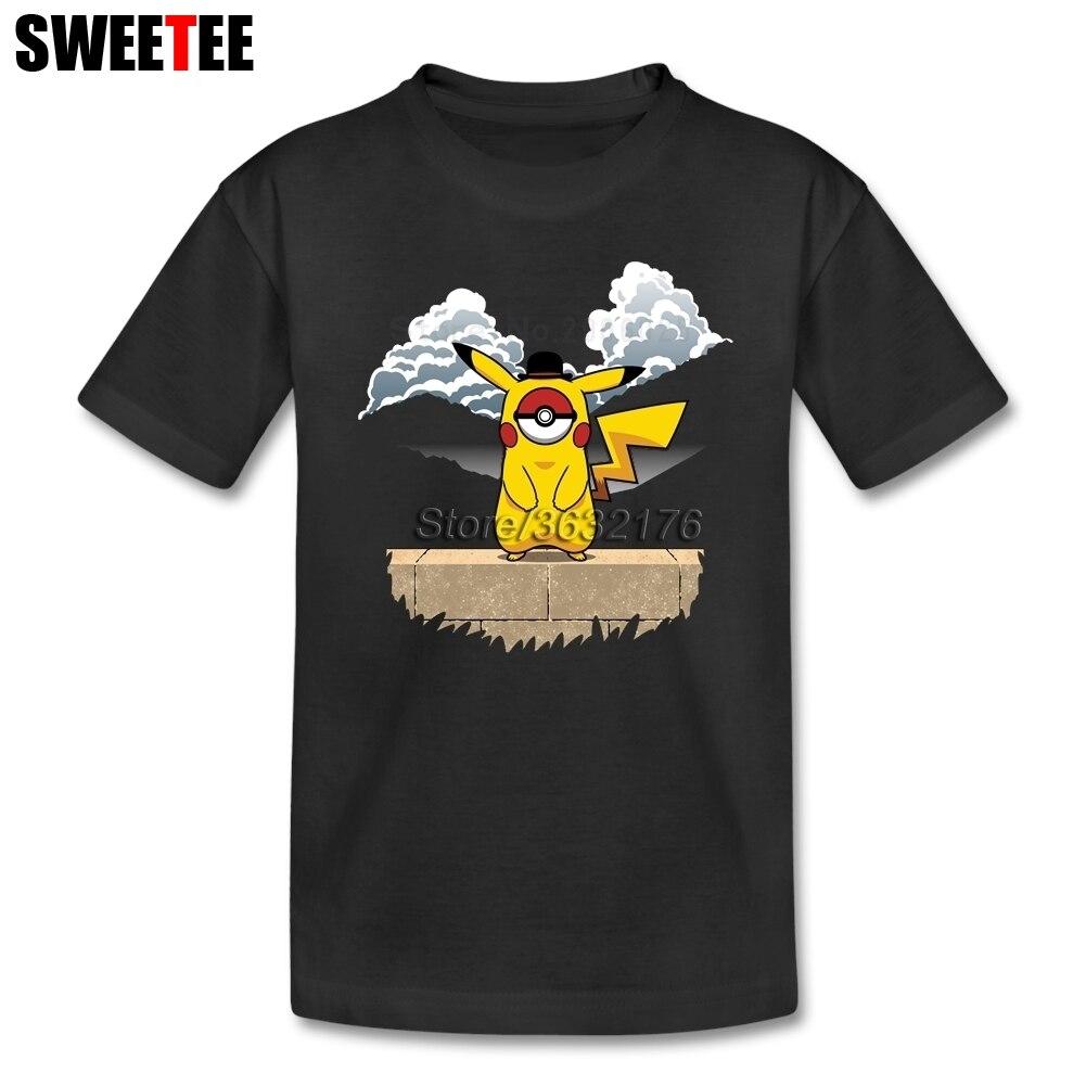 Пикачу паллет Pokemon футболка детские короткий рукав От 4 до 8 лет круглый Средства ухода за кожей шеи футболку сыну дизайнерских верхняя одежд...