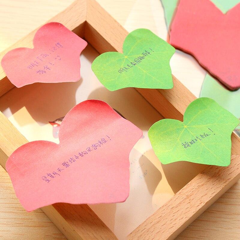 1Pack Tree Leaf Maple Leaves Sticky Leaf Irregular Sticker Post It N Times Irregular Memo Pad School Label Gift E0064
