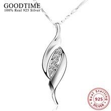 Nuevo Clásico Simple Colgante Collar Genuino 925 Collares Para Mujeres Regalos AJN031 Real 925 Joyería de Plata Esterlina Femenina