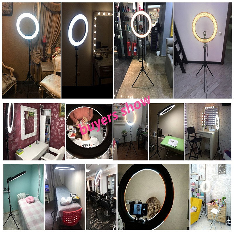 Image 5 - Fotopal Led Ring Light For Video Shoot Camera Phone Lighting With Stand Studio Photography Selfie Makeup Photo Circle Lamp-in Photographic Lighting from Consumer Electronics