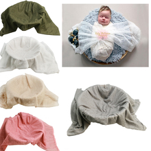 D&J 150x100cm New Baby Photography Prop Stretch Knit Mesh Gauze Background Blankets Accessories Infant Studio Shoot Photo Props