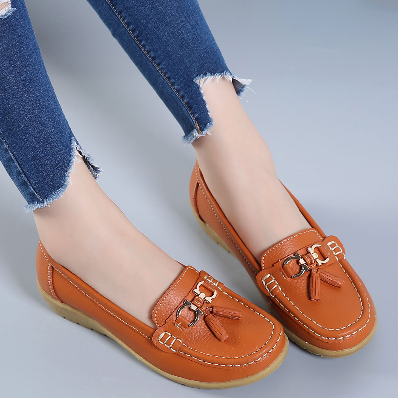Women Casual Leather Shoes Slip on Ladies Mother Solid Cut-outs Bowknot Flats Round Toe Moccasins Summer Female Fashion Loafers 2017 summer new women fashion leather nurse teacher flats moccasins comfortable woman shoes cut outs leisure flat woman casual s