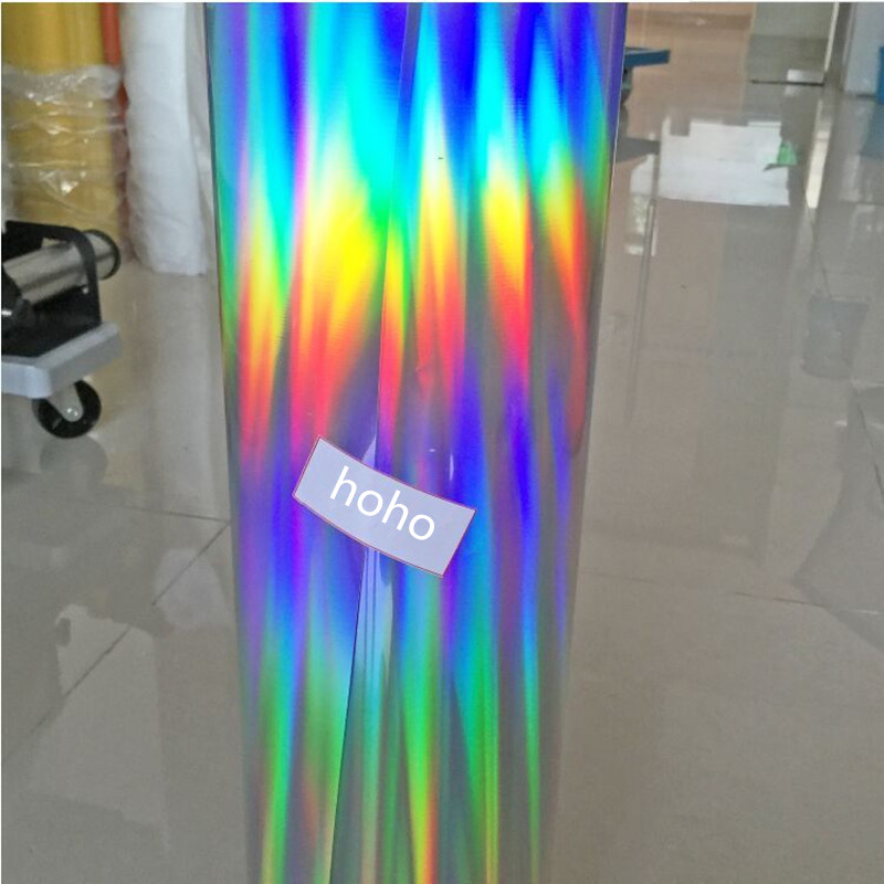 Width 50cm Holographic Heat Transfer Rainbow Laser Vinyl For T-shirts,party Clothing Iron On T-shirt 100% High Quality Materials Home