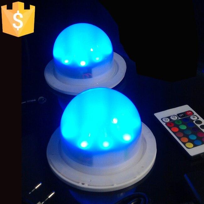 102mm Decorative Lamp Luminous Furniture Light Base/rgbw Led Light For Glow Led Furniture Light with Inductive Charger 50pcs/lot