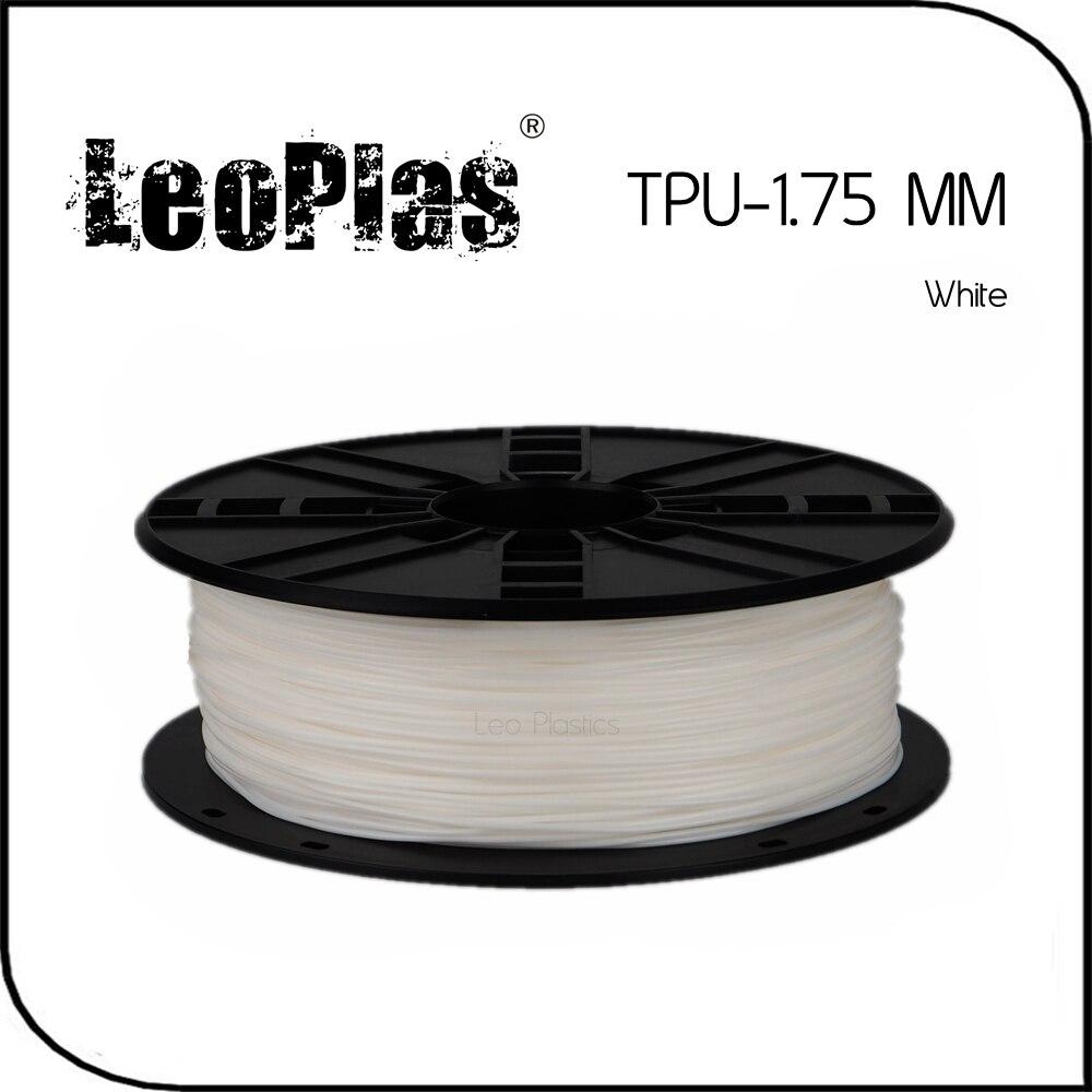 Worldwide Fast Delivery Manufacturer 3D Printer Material 1kg 2.2lb Soft  1.75mm Flexible White TPU Filament монитор aoc i2476vwm 23 6 tft ips black