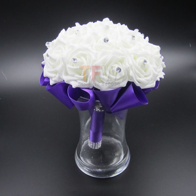 Gagadeal Wedding Bouquet Bridal Bridesmaid Brooch Bouquet Artificial Rose Flower Bouquet Wedding Flowers Bridal Bouquets FE2
