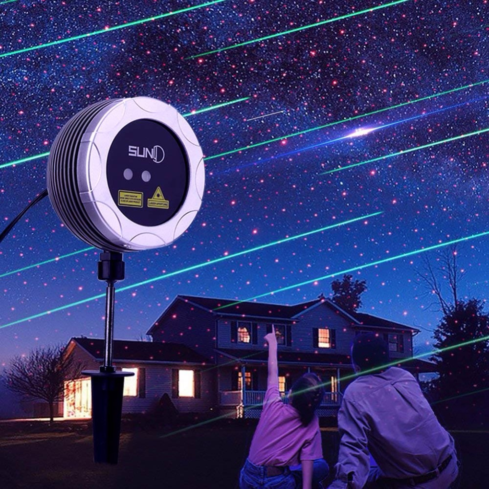 SUNY Shooting Star Outdoor Laser Lights Dual Color Decoration Projector Meteor Shower Red Dots Shower Landscaping Garden XmasSUNY Shooting Star Outdoor Laser Lights Dual Color Decoration Projector Meteor Shower Red Dots Shower Landscaping Garden Xmas
