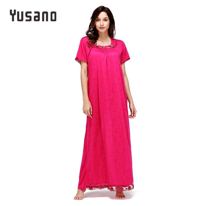Yusano Women Long Nightgown Cotton Long Nightdress Loose Sleep Dress Casual Home Clothe Nightshirt Lace Plus Size Sleepwear