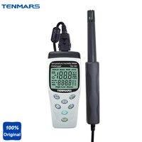 Tm 182 Портативный точность термометр Температура измеритель влажности с datalogging Функция