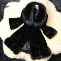 Nuevas mujeres de la Llegada Real Rex Rabbit Fur Coat Genuino Conejo Natural fur coat Jacket Envío Gratis 31