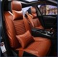 Para TOYOTA RAV4 Corolla Camry Yaris Prius naranja beige negro firm cuero suave de la pu impermeable delantero y trasero completo fundas de asiento de coche