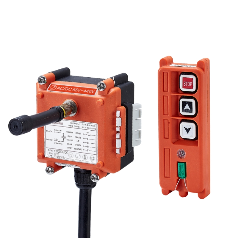 F21-2S industrial universal radio wireless remote control for overhead crane AC/DC f21 e2 radio industrial remote control for crane 6 button 1transmitter 1receiver