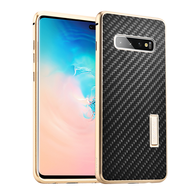 Luxury Original Real Carbon Fiber Cover Metal Frame Case For Samsung Galaxy S10 /S10 Plus Case Cover Full Protection Phone CasesLuxury Original Real Carbon Fiber Cover Metal Frame Case For Samsung Galaxy S10 /S10 Plus Case Cover Full Protection Phone Cases