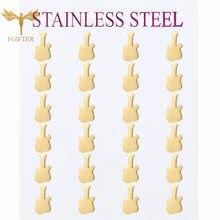 Wholesale Jewelry Rock Guitar Stud Earrings Stainless Steel Piearing Ear Small Earring Women Girls Boucle d Oreille