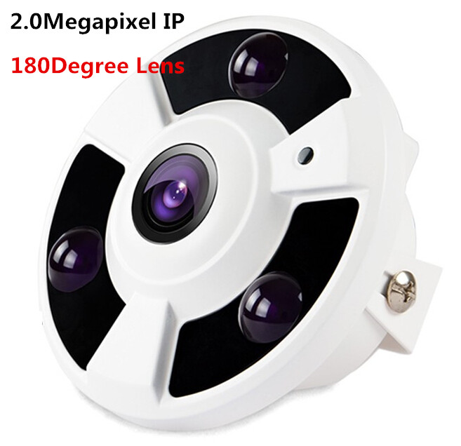 HD 1080P IP Camera Wide Angle FishEye 2MP 1.7MM Lens Camera CCTV Indoor ONVIF 3 ARRAY IR LED panoramic ip camera 720p 960p 1080p optional wide angle fisheye 5mp 1 7mm lens camera cctv indoor onvif 6 array ir led