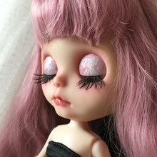 d13d2c089f5 New 5 Pairs 1:6 Black Dolls Big Pretty Eye Make Up Fake Eyelashes for  Blythe 1/6 Doll 12'' Dolls Accessories DIY Making Repair