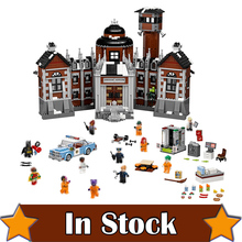 LEPIN 07055 The Arkham Asylum DC Super Heroes Batman Movie Joker Building Blocks Toys for kids Compatible With ingly 70912