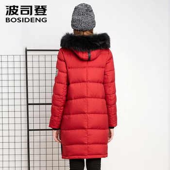 BOSIDENG New Winter Collection Women\'s mid-Length down Jacket Warm Jacket Coat for Women real fur High Quality B1601134