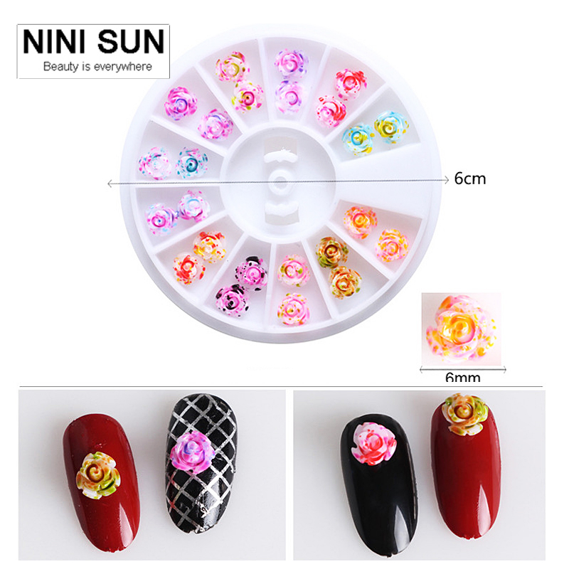 5box lot 3d nail charms rose flowers 3d nail art for Acrylic nail decoration supplies