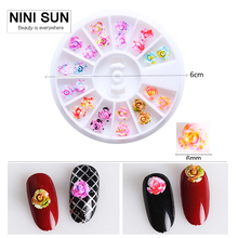 5box Lot 3d Nail Charms Rose Flowers Art Decorations Acrylic Supplies Nailart