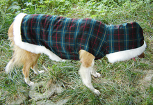 Pet apparel dog clothes big dog winter clothes large dog golden winter tartan
