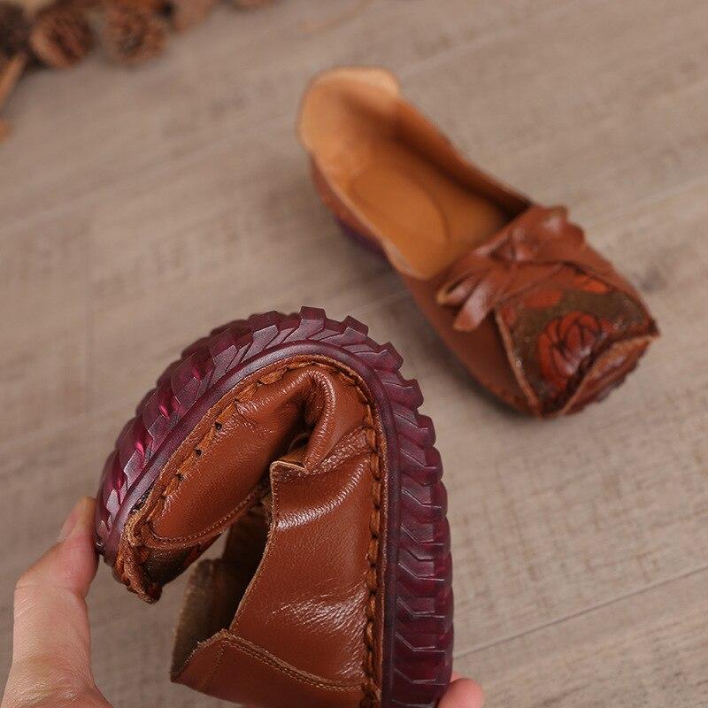 Beliebte Vintage Frauen Schuhe Bowtie Einzelnen Schuhe Weichen Bequemen Mutter Schuhe Handgemachte schuhe größe 35 41 freies verschiffen-in Damenpumps aus Schuhe bei  Gruppe 3