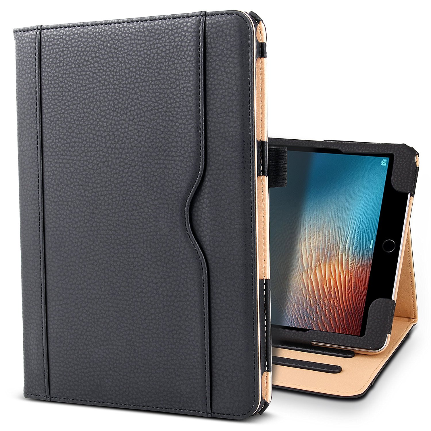 Case For New iPad Pro 10.5 2017 Premium PU Leather Case Smart Cover for iPad pro 10.5 Stand Case with Pencil Holder+Card Pocket new painting case for apple ipad pro 12 9 flip pu leather case tablet smart slim cover book style stand with wallet card bag