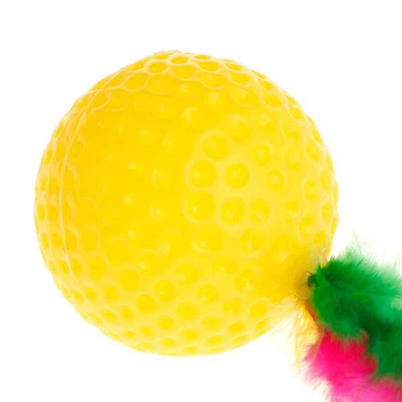 Teaser de gato pelota de Golf de colorido juguetes chillones Chew jugar inteligente interactivo para mascotas perro cachorro gatito suministros