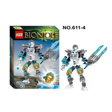 XSZ 611-4 Biochemical Warrior BionicleMask of Light Bionicle Kopaka Ice Building Block Minifigure Compatible with Legoe Toys