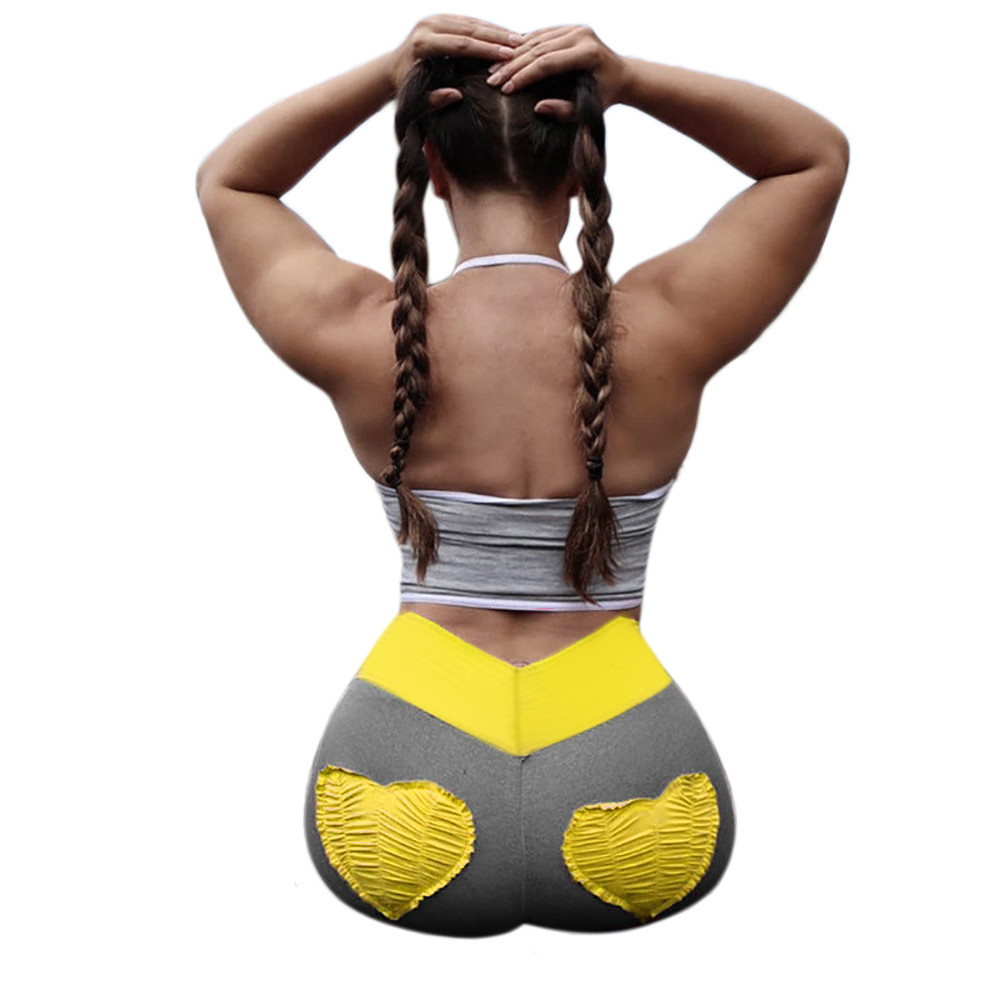 bec1308a37d8a 2018 NEW Women Push Up Fitness Sports Gym Running Yoga Athletic Pants  Workout Pattern Leggings Gym Clothing Athletic Pants