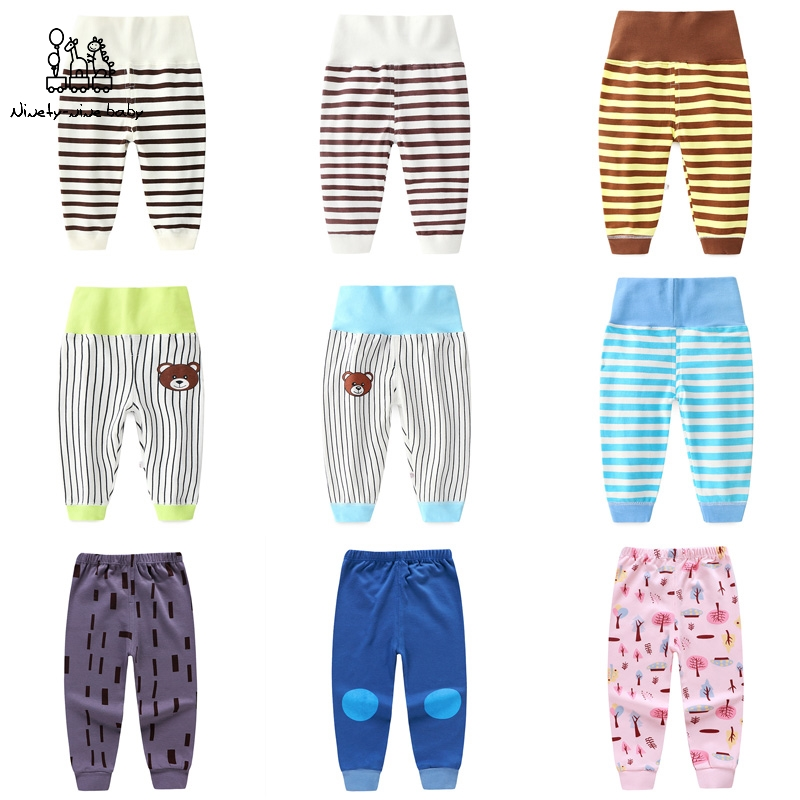 Belly-Pants Cotton Girls Baby High-Waist Crotch New And Kid 1-5y Dual-Purpose Stretch