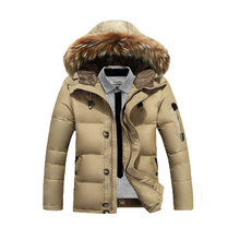 Hot Sale New Fashion Brand Men down jacket winter Thick Warm Fashion Patchwork Men's Coat Hooded Men White duck down Coat