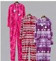 Women & Men Outono & Inverno com capuz & Pijamas Footed Adulto Quente Algodão de Lã Onesies Pijama/Jumpsuit