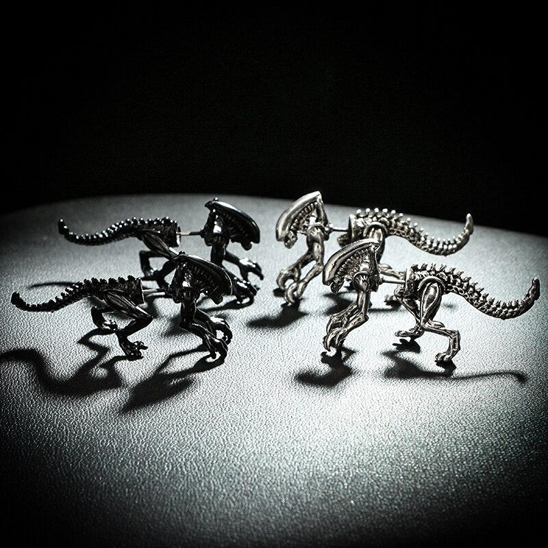 geekoplanet.com - Alien Stud Earrings