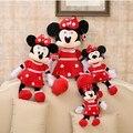 30 cm 2015 nuevo de Alta Calidad lindo juguetes de felpa de Mickey o Minnie doll para niños de cumpleaños gifts1pcs