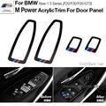 Motorsport М Производительность Акриловое Окно Переключатель Рамка Двери Автомобиля Панели Планки для BMWW 1 3 Серии F20 F30 F35 3 GT 3GT Укладки