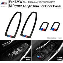Motorsport M Rendimiento Cubierta de Marco de Puerta de Coche Del Panel Interruptor de La Ventana de Acrílico Adornos para BMWW 1 Serie 3 F20 F30 F35 3 GT 3GT Styling