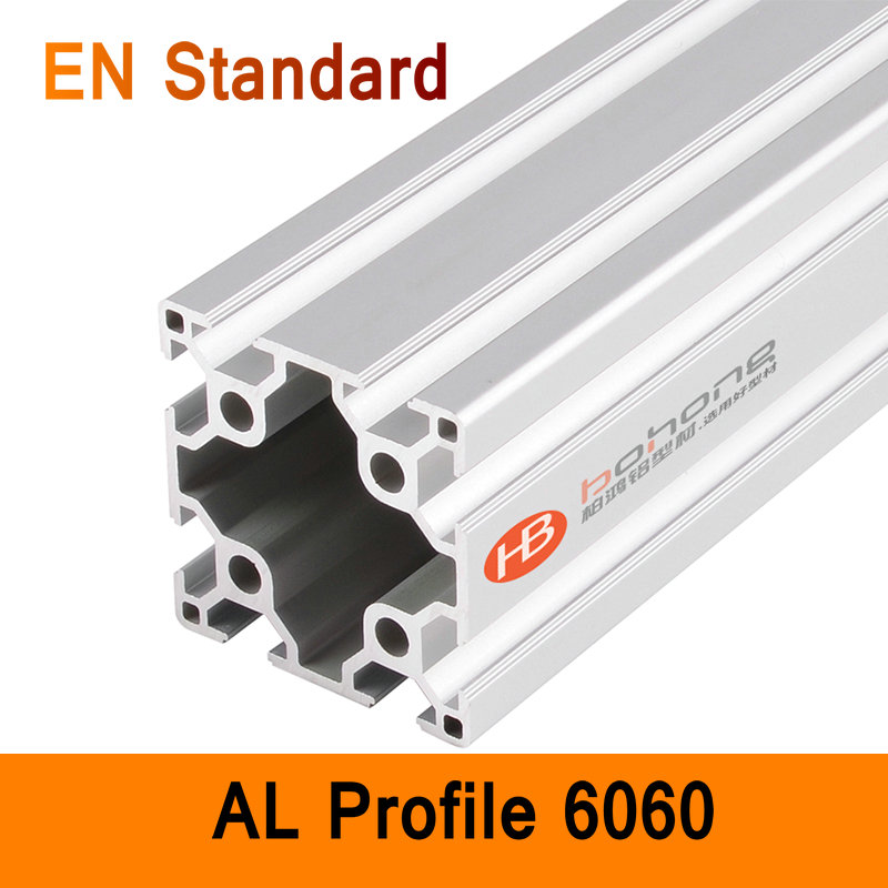 6060 Aluminium Profile EN Standard DIY Brackets Aluminium AL Extrusion CNC 3D DIY Printer Frame Parts Aluminum Frame Pipe T Slot ...