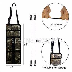 Image 3 - Portable Multi Function Camouflage Hunting Bag for Car Rear Seat Belt Gun Rack travel Hunt supplies Muti pockets shotgun sling