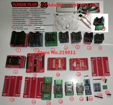 100% ORIGINAL TL866II PLUS programmeur + 24 adaptateurs + IC clip haute vitesse AVR MCU Flash EPROM programmeur remplacer TL866A/CS