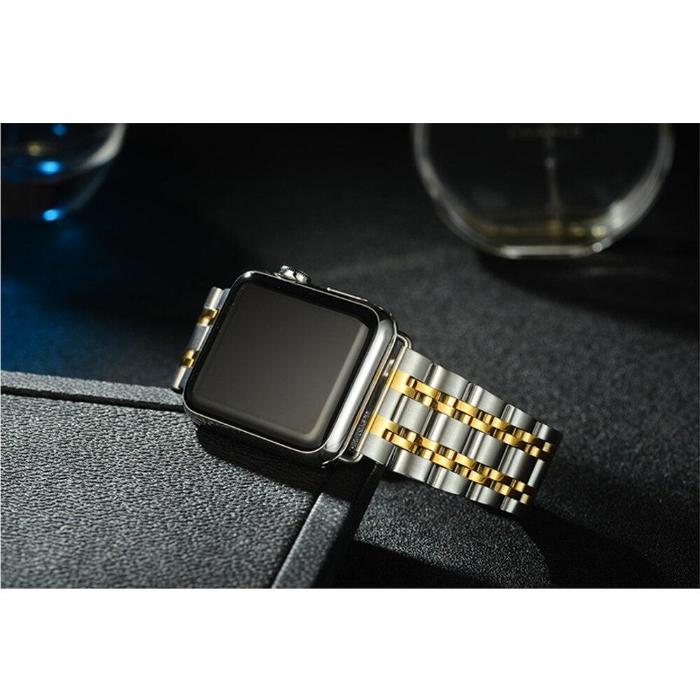 a1a622a160683 CRESTED enlace pulsera correa para apple watch banda 42 38mm de acero  inoxidable hebilla de mariposa guapo banda para la muñeca para iwatch 3 2 1