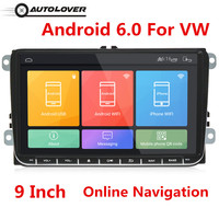 Universal 9 inch Car DVD Player Radio Android 6.0 Dual Din Touch Screen Car Multimedia Player with Ultra Thin Body for VW